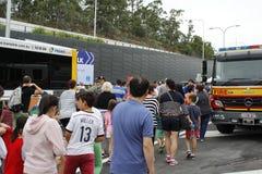 Brisbane-Vermächtnis-Weisen-Tunnel-Weg Lizenzfreie Stockfotos