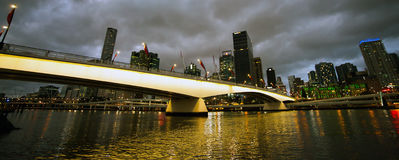 Brisbane with Victoria Bridge. Skyline of Brisbane with Victoria Bridge Stock Images