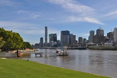 Brisbane view from South Bank. royalty free stock photos
