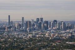 Brisbane von Mt Blässhuhn-thastandpunkt Lizenzfreie Stockbilder