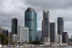 Brisbane from the water. Brisbane Central Business District, Queensland Australia stock photography