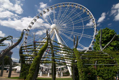 Brisbane wheel. Wheel at Brisbane is surrounded by a special design of trees layout stock photo