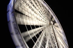 Brisbane Wheel. Huge ferris wheel at Southbank Brisbane at night Stock Photos