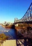 Brisbanes Geschichtenbrücke Stockfotos