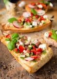 Brischetta sandwich Stock Image