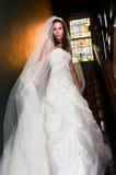 Brise dans l'escalier dans le manoir avant de Wedding photo stock