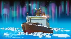 Brise-glace la nuit Images stock