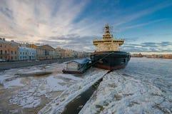 Brise-glace St Petersburg Image libre de droits