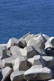 Brise-lames concrets Photographie stock