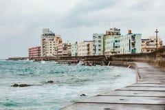 Brise-lames de l'Okinawa photos libres de droits