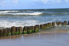 Brise-lames de mer baltique Images libres de droits