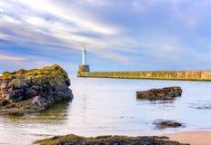 Brise-lames de sud d'Aberdeen image stock