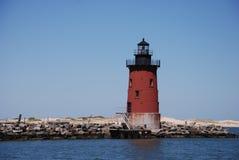 Brise-lames phare, Lewes, Delaware Photos libres de droits