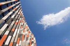 Brise soleil zont brekers bij de moderne bureaubouw, toekomst van het werkconcept Royalty-vrije Stock Foto