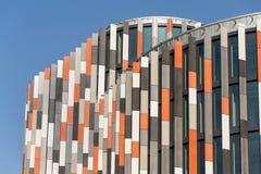 Brise soleil zont brekers bij de moderne bureaubouw, toekomst van het werkconcept Royalty-vrije Stock Afbeeldingen