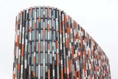 Brise soleil zont brekers bij de moderne bureaubouw, toekomst van het werkconcept Royalty-vrije Stock Foto's