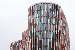 Brise soleil zont brekers bij de moderne bureaubouw, toekomst van het werkconcept Royalty-vrije Stock Afbeelding