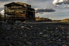 Briseur de charbon anthracite d'Abandoened - Pennsylvanie Photographie stock libre de droits