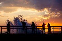 Briseur de coucher du soleil Photo stock