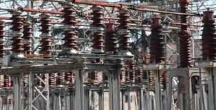 Briseurs industriels d'une centrale avec la puissance à haute tension lin image libre de droits