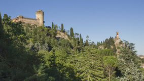Brisighella, castle and clock tower Royalty Free Stock Image