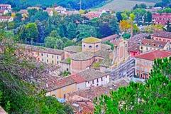 Brisighella church seen from above. Italy Royalty Free Stock Photos