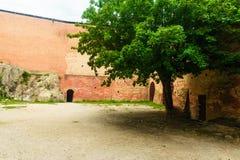 Brisighella, Italië 21 Juli 2018: De citadel van Brisighella-bolwerk Stock Fotografie