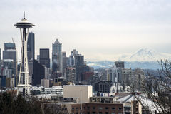 Brisk Seattle Morning Royalty Free Stock Photos