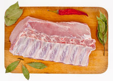 Brisket on a chopping board Stock Image