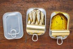 Brisling sardines canned Stock Photo
