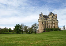 Brissac castle. Brissac medieval castle in France Royalty Free Stock Photos