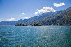 """Brissago-Inseln, die Schweiz †""""am 24. Juni 2015: Passagiere werden es tun Lizenzfreie Stockfotos"""