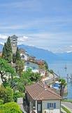 Brissago, maggiore озера, кантон Тичино, Швейцария Стоковое Фото