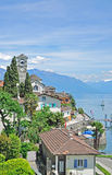 Brissago, maggiore del lago, cantón de Tesino, Suiza Foto de archivo