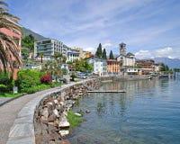 Brissago, Ticino kanton, Jeziorny Maggiore, Szwajcaria Obrazy Royalty Free