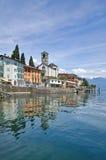 Brissago, Ticino, lago Maggiore, Svizzera Fotografie Stock Libere da Diritti