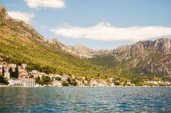 brist美丽如画的风景风景在达尔马提亚,克罗地亚 免版税库存照片