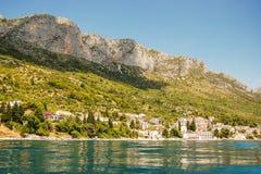 brist美丽如画的风景风景在达尔马提亚,克罗地亚 免版税库存图片
