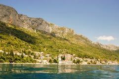 brist美丽如画的风景风景在达尔马提亚,克罗地亚 库存照片