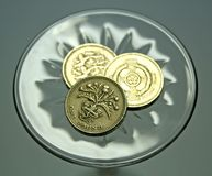Bristish Coins Stock Photos