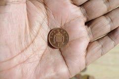 BRISTISH JEDEN cent Zdjęcie Stock