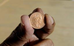 BRISTISH JEDEN cent Obraz Royalty Free