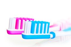 Bristle toothbrushes removed large Royalty Free Stock Photos