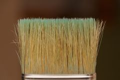 The bristles of the brush close-up on blurred background.  stock photos