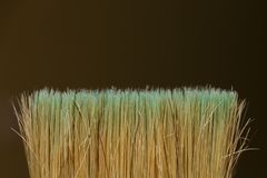 The bristles of the brush close-up on blurred background.  royalty free stock images