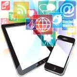 Bristning av App-symboler Arkivfoton