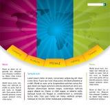 bristning av designöversiktswebsite Arkivfoton