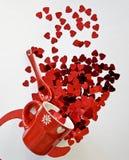 Bristning av valentin dag arkivbild