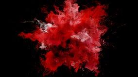 Bristning för röd färg - färgrik matte för alfabetisk för partiklar för rökexplosionvätska vektor illustrationer