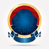 Bristning för grunge för cirkeletappblått Royaltyfria Foton